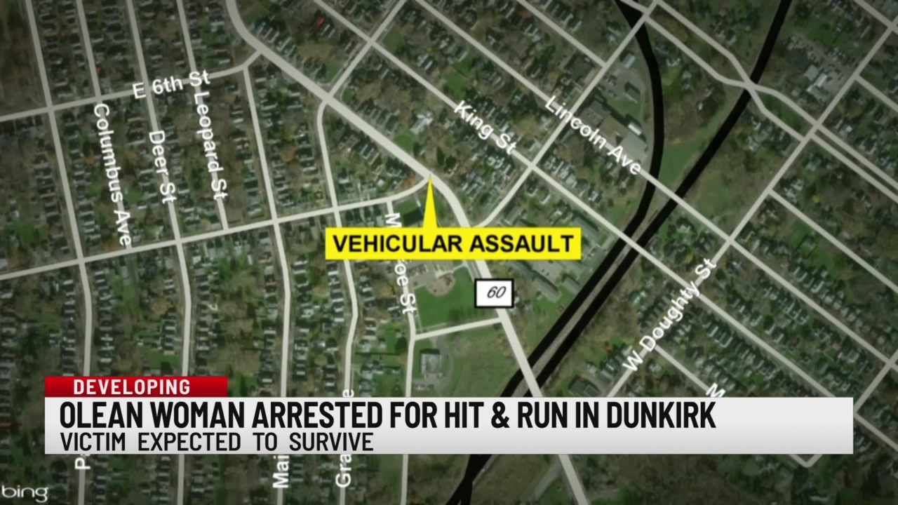 Olean woman arrested for hit and run in Dunkirk