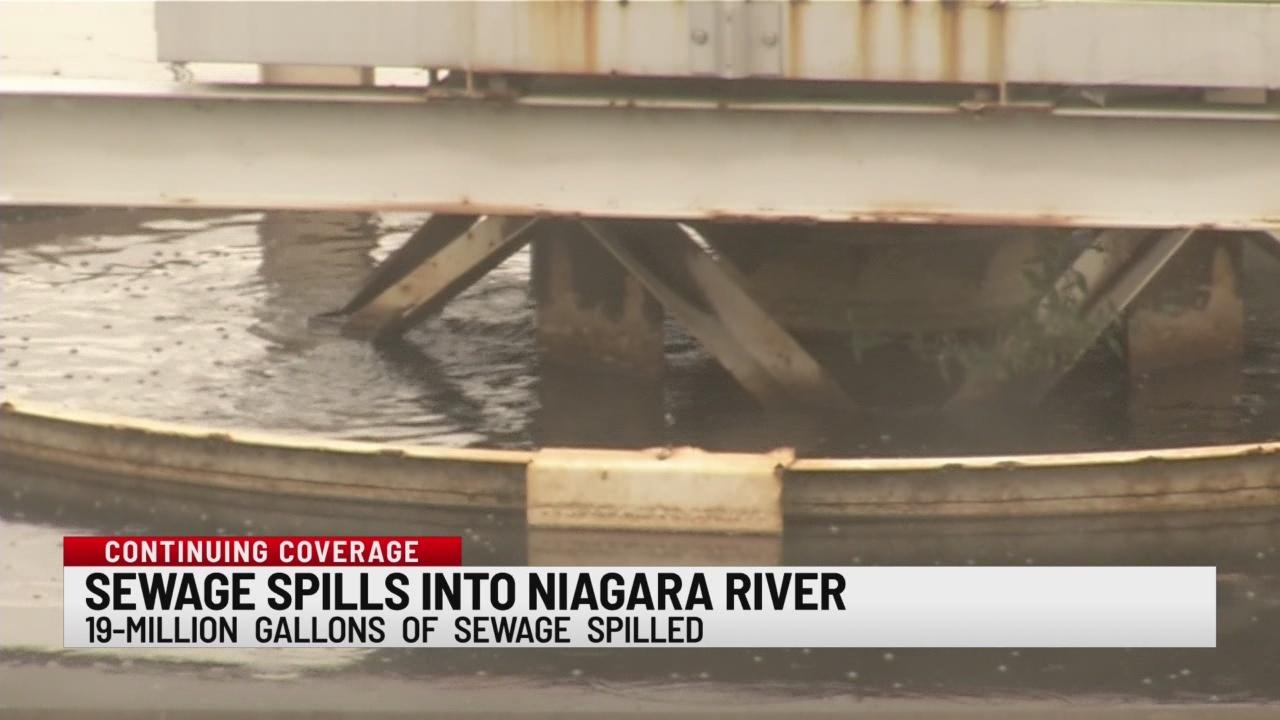 Sewage spills into Niagara River