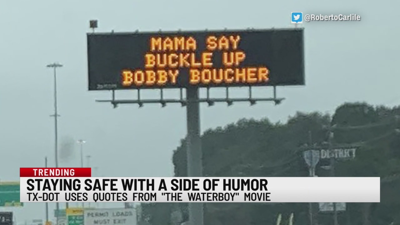 Sign gets an idea from The Waterboy