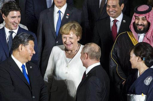 Angela Merkel, Xi Jinping, Vladimir Putin