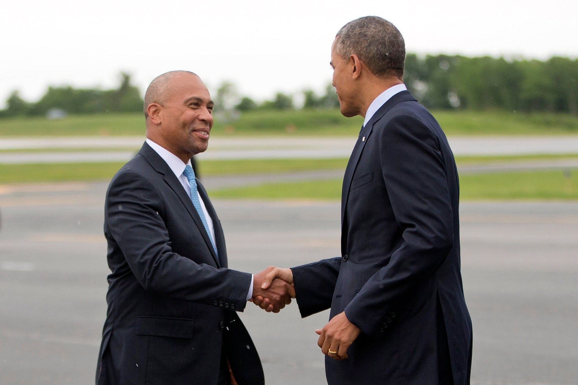 Barack Obama, Deval Patrick, Joseph Petty, Jim McGovern