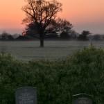 Easter Sunrise 2019 - Sun rising over graves