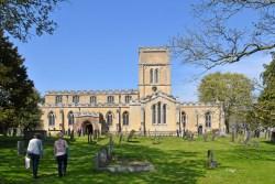 Good Friday 2019 - Pilgrims approaching St Andrew's