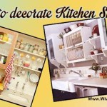 How to decorate open shelves of kitchen?