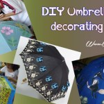 DIY decoration ideas: Decorating umbrella, a way enjoying craft work