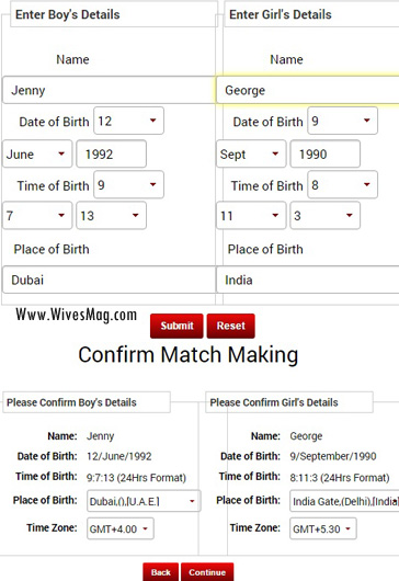 Free match making report
