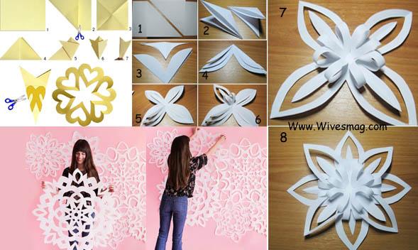 DIY wall art using Paper, metallic paper or card sheet