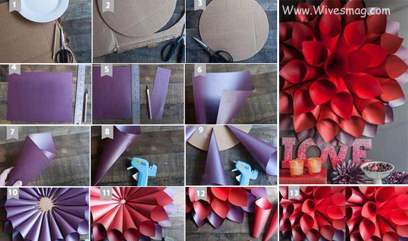 DIY wall art using Paper or card sheet