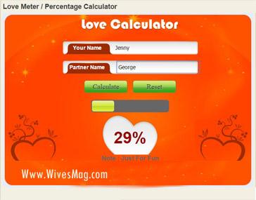 Easycalculation Love Percentage Calculator