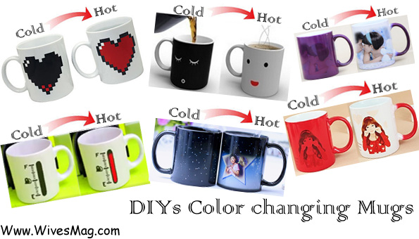 Easy DIYs color changing coffee mugs: Step by step instructions