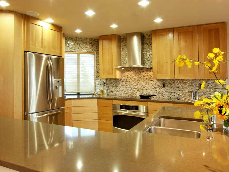 Kitchen-paint-color-ideas-with-brown-cabinets