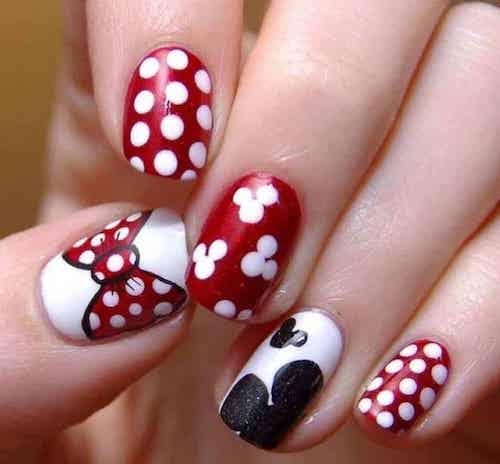 Love character nail design