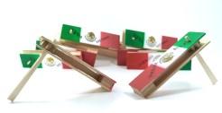 Matraca de madera 18 cm paquete de 10 pzs- Wiwi Fiestas de mayoreo
