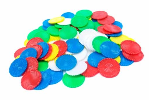 Fichas matemáticas 3.5 cm 100 piezas - Wiwi Juegos de mayoreo