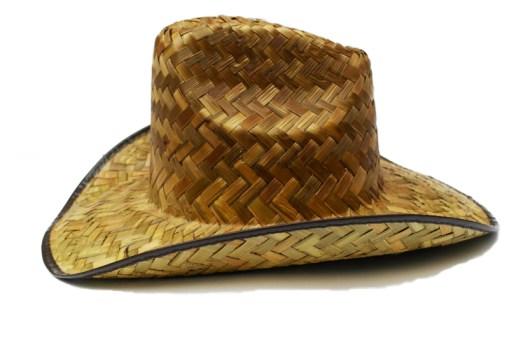 Sombrero Vaquero quemado de petate - Wiwi Fiestas de mayoreo