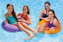 Salvavidas flotador redondo con agarraderas 76 cm-inflables mayoreo