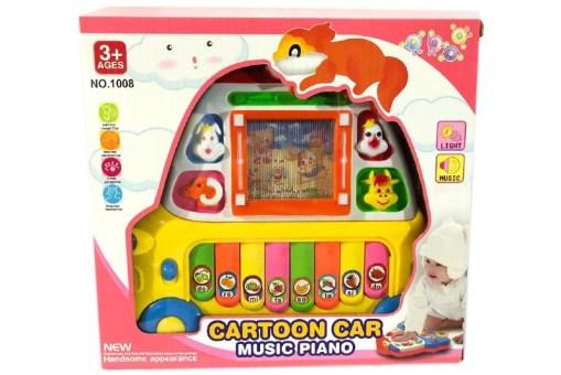 Cartoon car Piano musical - juegos y juguetes didácticos