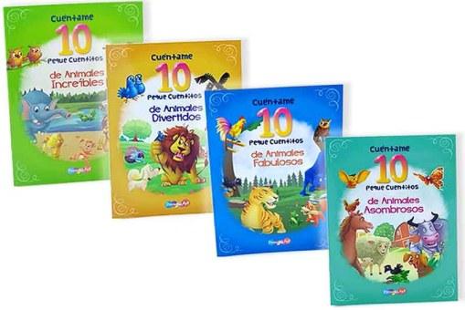 Cuentame 10 peque cuentitos de animales 4 tomos - Libros infantiles