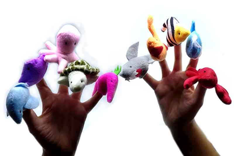 Títeres de dedo del mar 10 piezas-juegos y juguetes