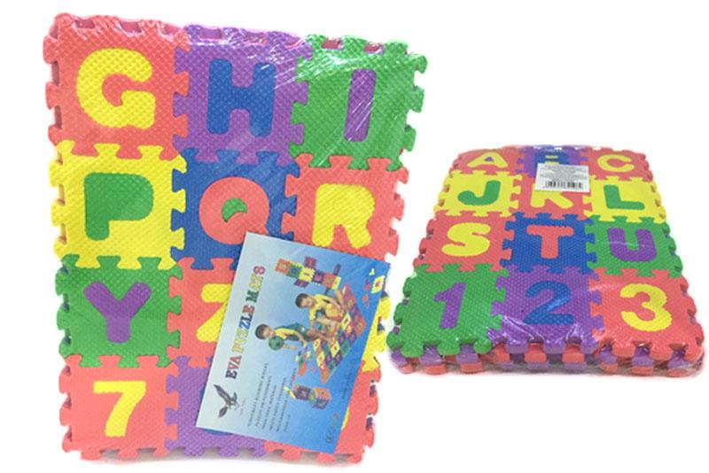 Agrega a tu carrito de compras este juguete o juego didáctico con 3 planillas que miden 26.5 de largo x 20 de ancho x .5 de espesor (centímetros), peso aproximado .075 gramos hechas de un suave polímero llamado EVA, o foamy también conocido como foami con eslabon de unionpara ensamble y varios números y letras de ensarte para hacer enlaces, cadenas numéricas, operaciones matemáticas formar palabras y frases o solo un tapete de adorno o para juegos Origen: China Se envía desde CDMX Condición: Nuevo, en buenas condiciones. UPC:.6940351321062 SKU:jy52186 ¿Por que comprar un tapete de Foamy? Juego o juguete didáctico ideal para llenado de piñatas, como souvenir o recuerdo en fiestas de cumpleaños, para cursos de verano o actividades educativas, son muy entretenidos, si compras varias piezas aumentas la diversión ya que puedes formar un cubo o un tapete del tamaño que mas aún mayor o mas figuras