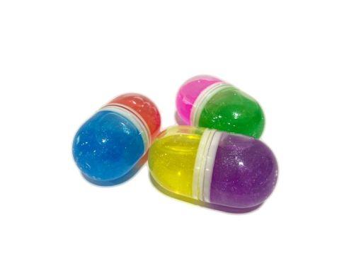 Jumping Beans Caja con 20 cápsulas bicolores con Masa cristalina