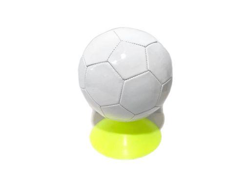 Balón de fútbol # 5 con cámara 22 cm BLANCO - pelotas de Mayoreo