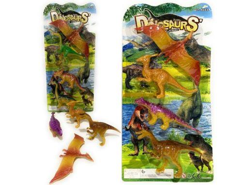 Dinosaurios 4 figuras de Plástico decoradas casi reales para maquetas