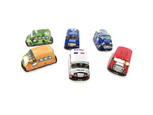 Colección carritos de plástico con retro impulso caja con 30 piezas