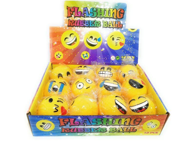 Pelotas de Emojis con Luz 5 cm caja con 12 diferentes gestos