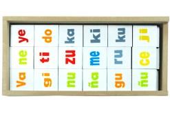 Juego de sílabas de madera - Wiwi didácticos de mayoreo juguetes educativos