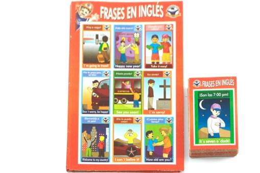 Lotería Didáctica Frases en Ingles - Wiwi Loterías de Mayoreo