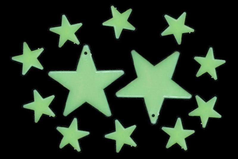 Stars Glow in the dark 12 piezas-Wiwi de mayoreo
