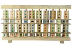 Jiahuade Tabla de Multiplicar de Madera,Abaco de Madera,Juego Tablas de Multiplicar,Juguete Educativo de Matem/áticas,Matematicas Madera,Tabla de Multiplicaci/ón,Juegos Matematicos A