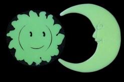 Sol y Luna Glow in the dark 4 piezas-Wiwi de mayoreo