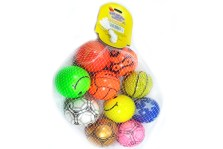 Pelota de Esponja Decorada 10 pzs - Wiwi pelotas de Mayoreo
