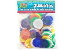 Fichas de plástico 3.8 cm 100 piezas - Wiwi Juegos de mayoreo