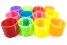 Slinky Gusano de Plástico 6 cm paquete de 12 piezas Wiwi Mayoreo