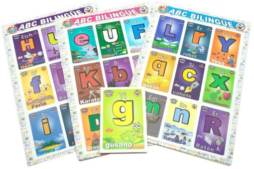 Lotería Didáctica Abecedario Bilingüe - Wiwi Loterías de Mayoreo