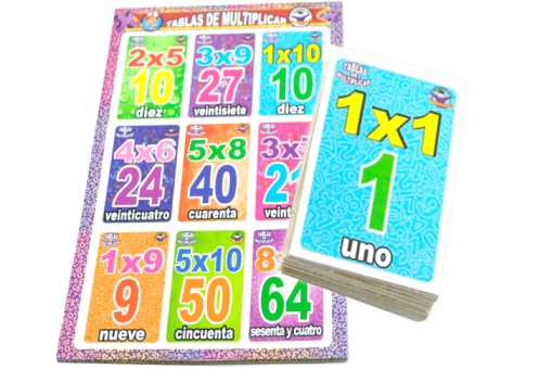 Lotería Didáctica de Las Multiplicaciones - Wiwi Loterías Mayoreo