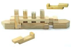 Rompecabezas 3D Barco de madera - Wiwi Juegos de mayoreo, juguetes de habilidad y destreza