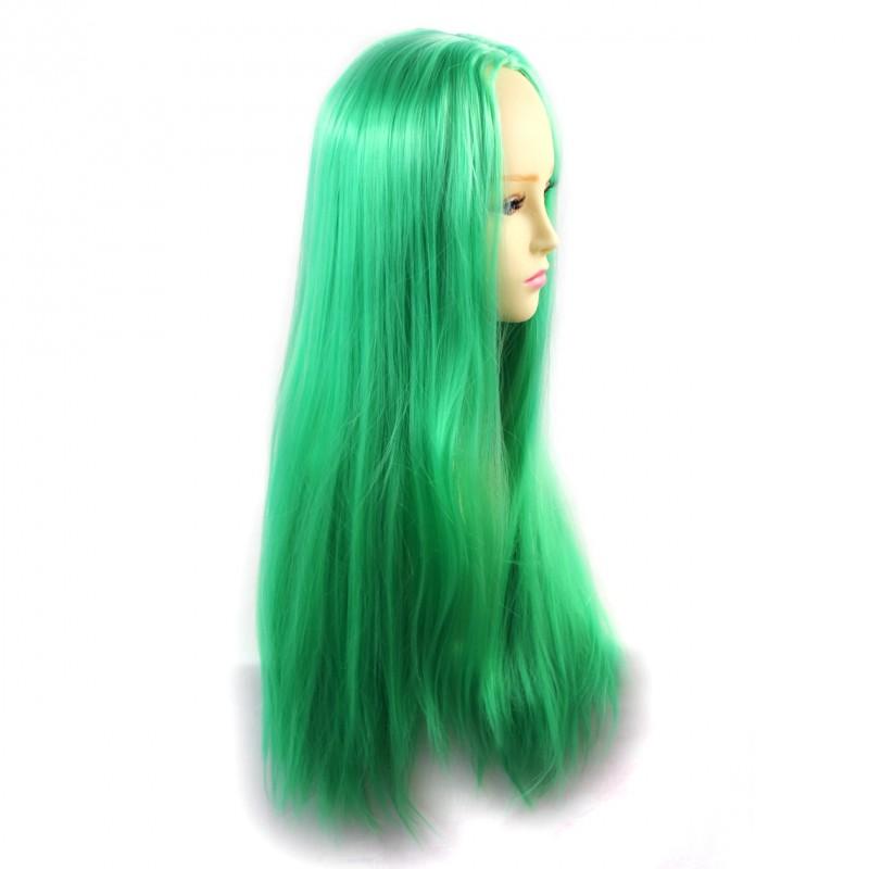 Wiwigs Wiwigs Romantic Long Straight Wig Green Amp Light