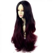 wiwigs - long wavy lady wigs black