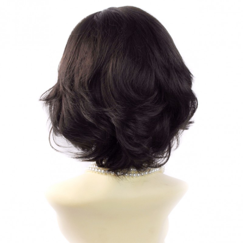 Wiwigs Natural Short Wig Curly Dark Brown Summer Style