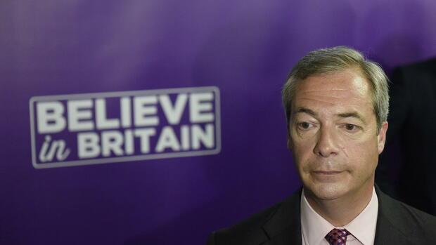 Nigel Farage: UKIP-Chefkündigt Rücktritt an Quelle: dpa