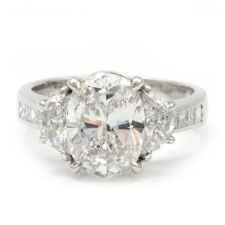 JB Star Engagement Ring 3 Carat Oval Diamond Wixon Jewelers