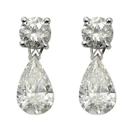 Pear Shaped Diamond Earrings Dangle Amp Drop Wixon Jewelers