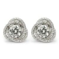 Diamond Stud Earring Jackets - Spiral Pave | Wixon Jewelers