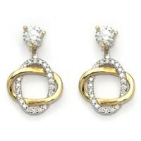 Diamond Stud Earring Jackets - Yellow Gold Swirl | Wixon ...