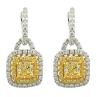 Natural Fancy Yellow Diamond Earrings | Minneapolis, MN