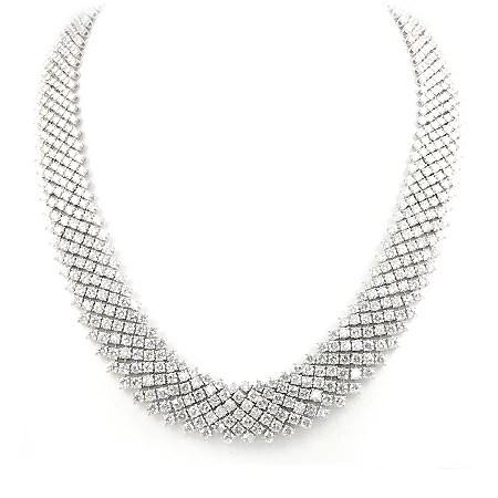 61 Carat Diamond Wide Mesh Necklace MN Wixon Jewelers